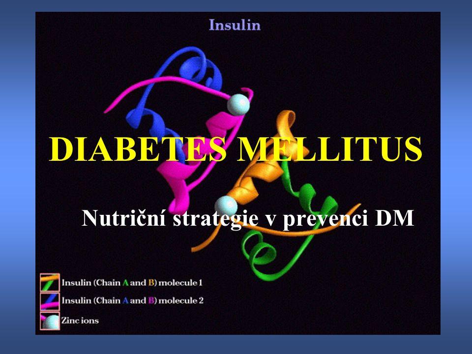 Nutriční strategie v prevenci DM