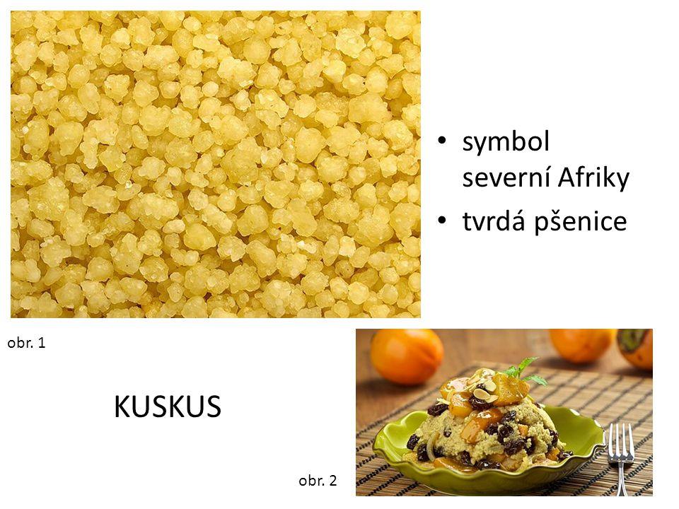 symbol severní Afriky tvrdá pšenice obr. 1 KUSKUS obr. 2