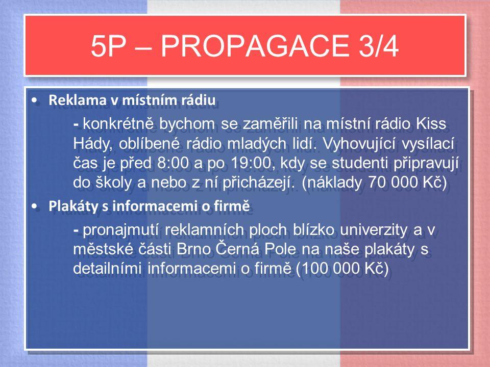5P – PROPAGACE 3/4 Reklama v místním rádiu