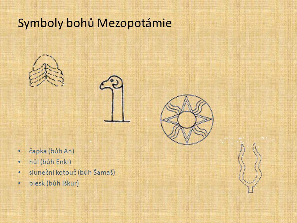 Symboly bohů Mezopotámie