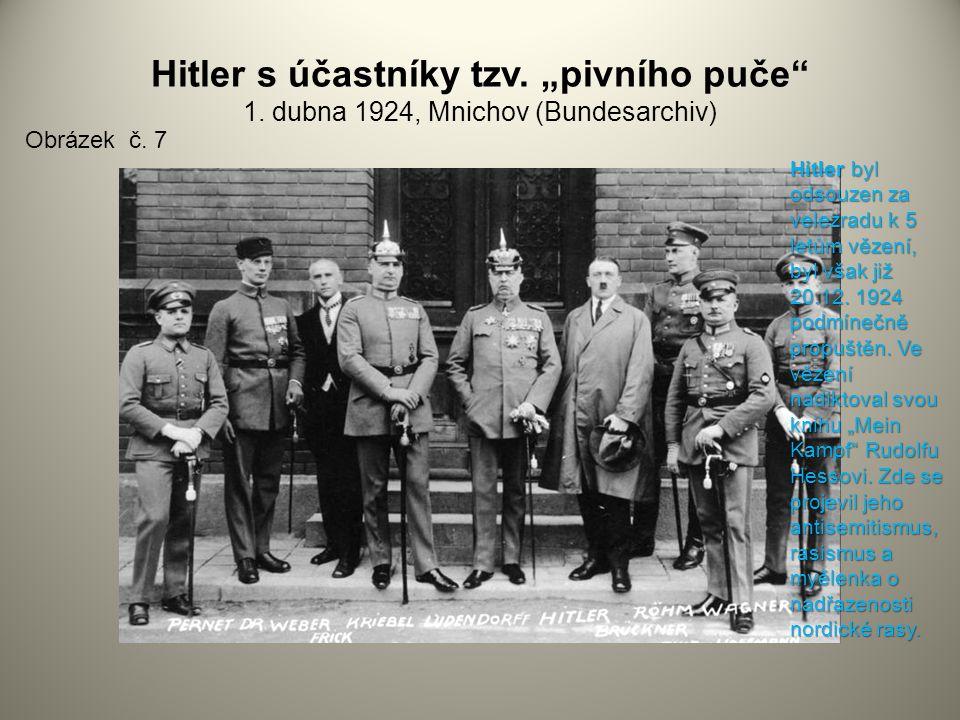 """Hitler s účastníky tzv. """"pivního puče 1"""