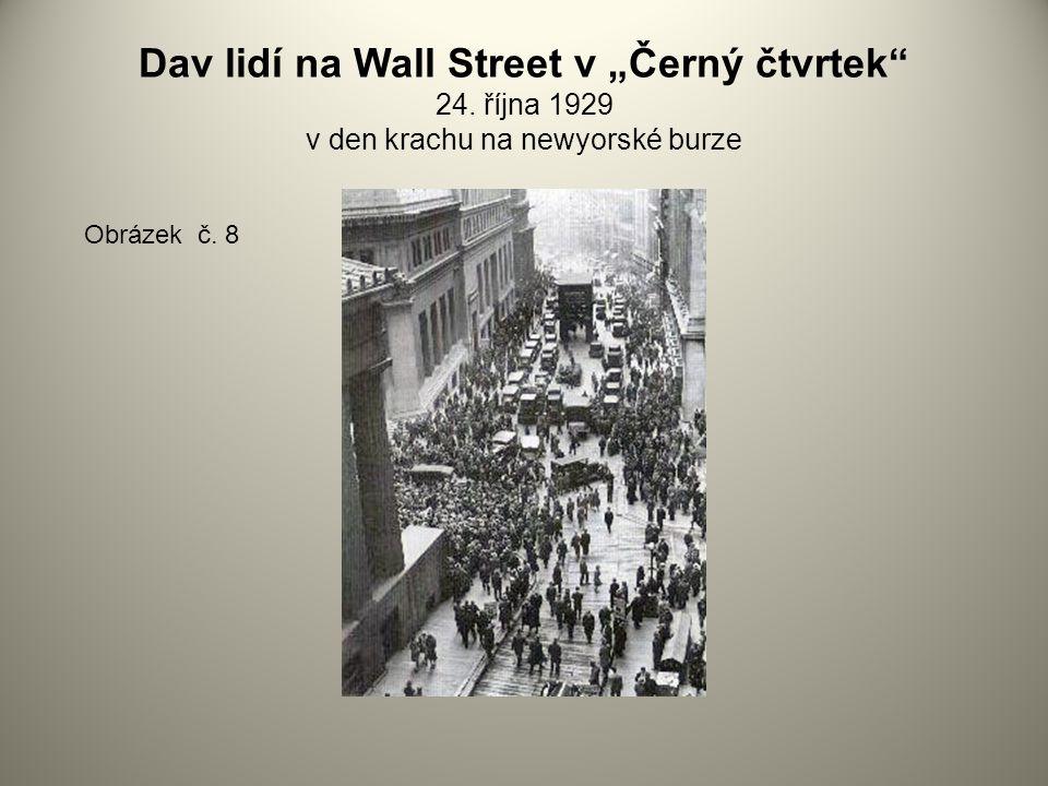 """Dav lidí na Wall Street v """"Černý čtvrtek 24"""