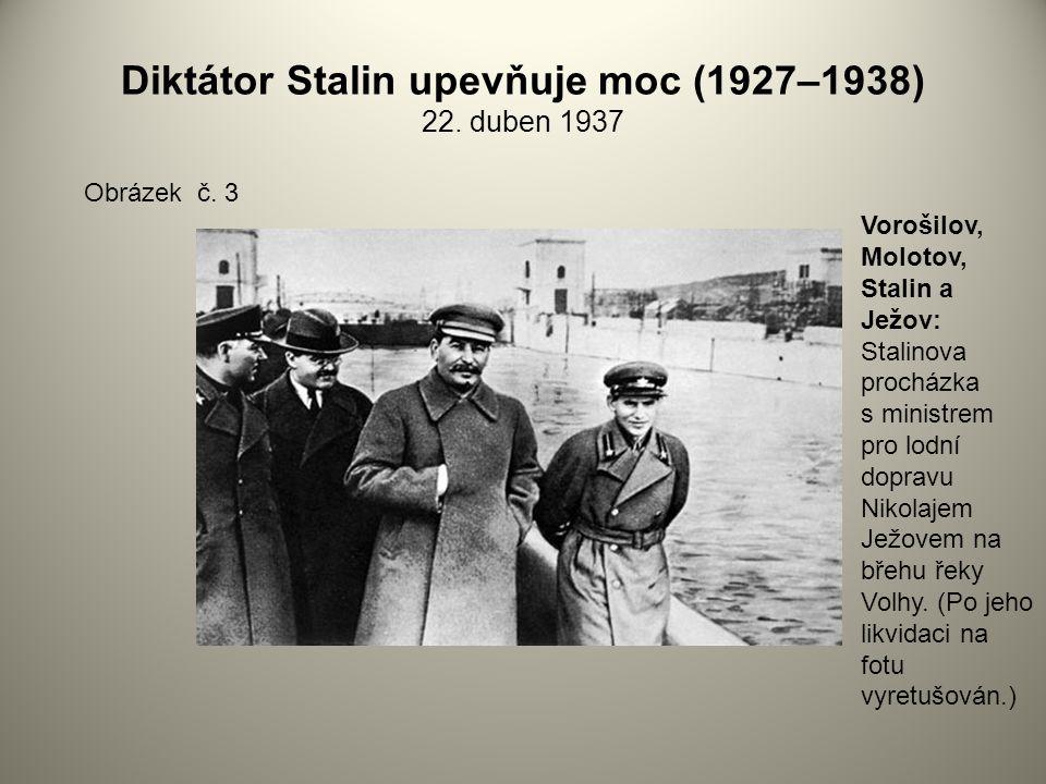 Diktátor Stalin upevňuje moc (1927–1938) 22. duben 1937