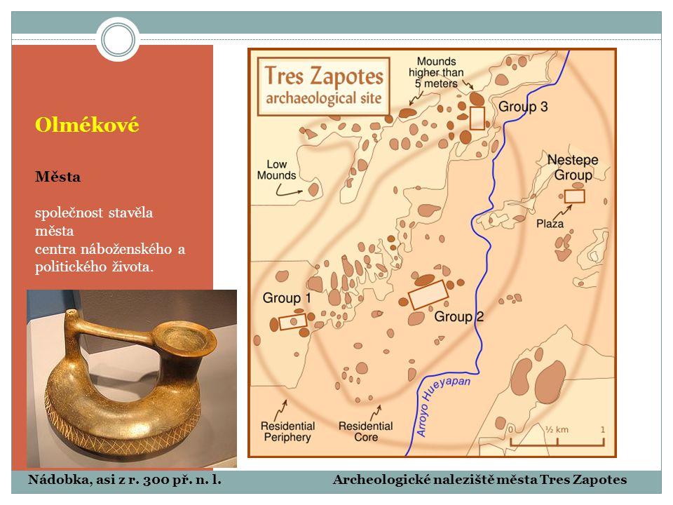 Olmékové Města společnost stavěla města