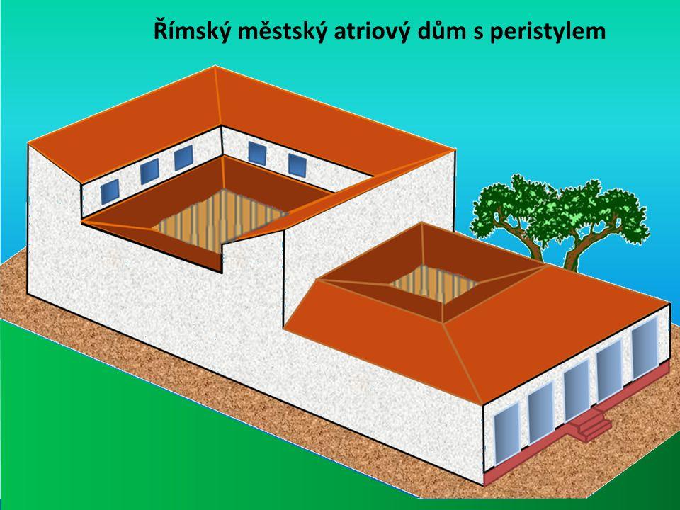 Římský městský atriový dům s peristylem