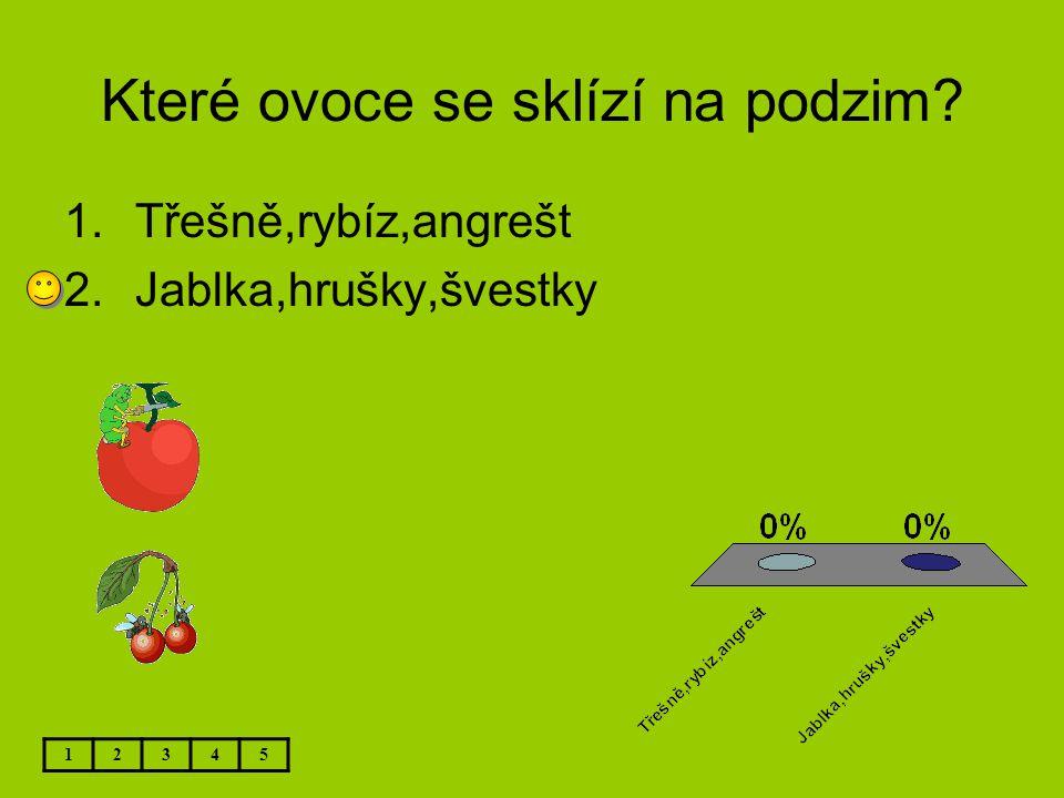 Které ovoce se sklízí na podzim