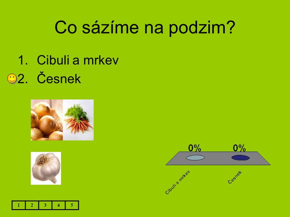 Co sázíme na podzim Cibuli a mrkev Česnek 1 2 3 4 5