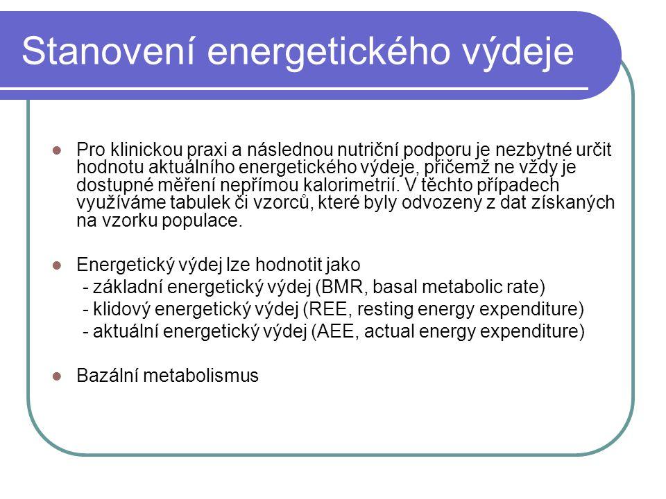 Stanovení energetického výdeje