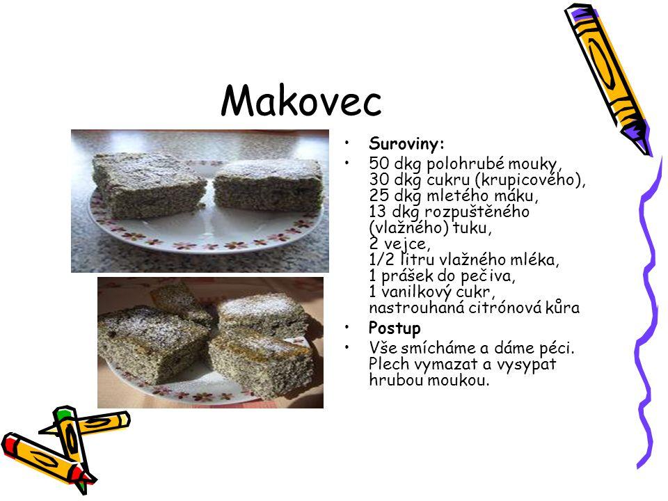 Makovec Suroviny: