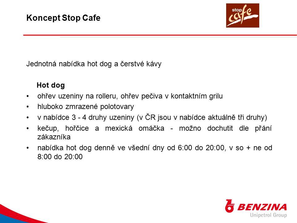 Koncept Stop Cafe Jednotná nabídka hot dog a čerstvé kávy Hot dog