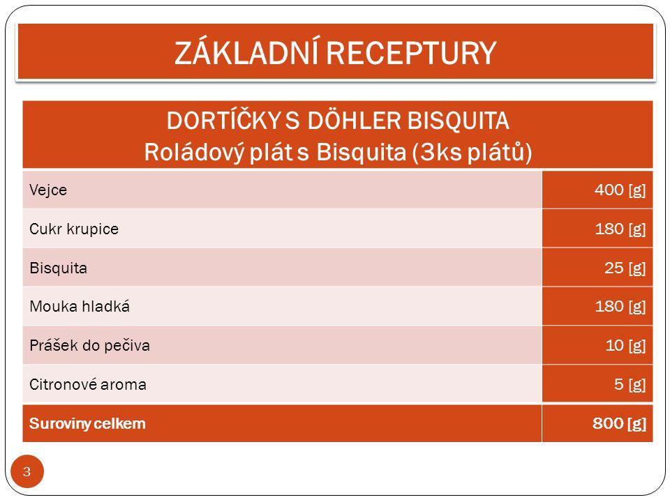 DORTÍČKY S DÖHLER BISQUITA Roládový plát s Bisquita (3ks plátů)