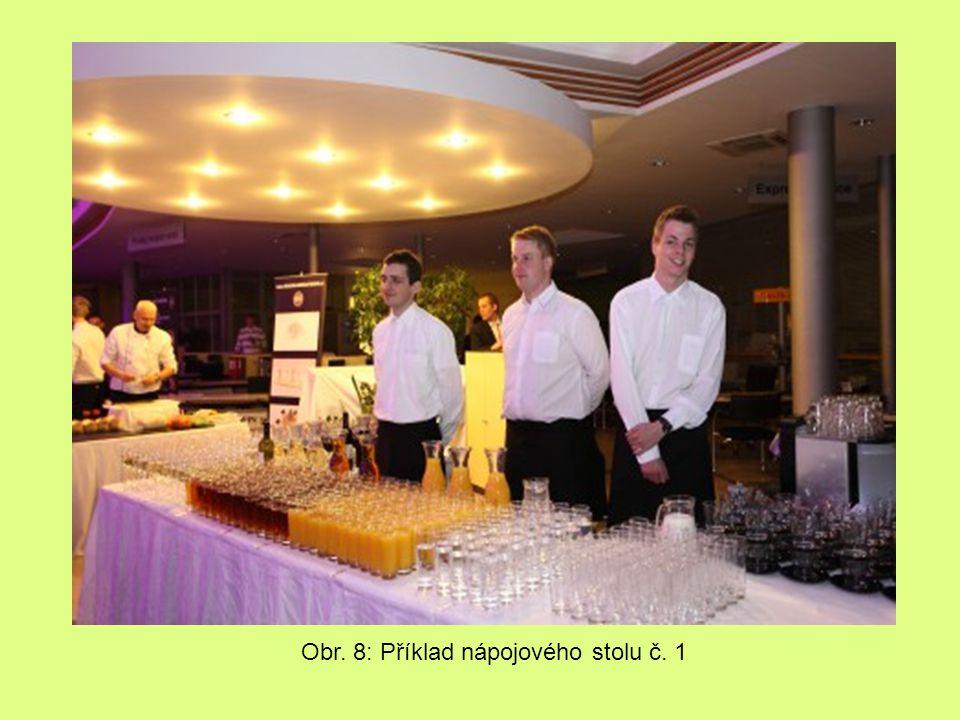 Obr. 8: Příklad nápojového stolu č. 1