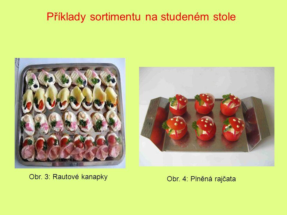 Příklady sortimentu na studeném stole