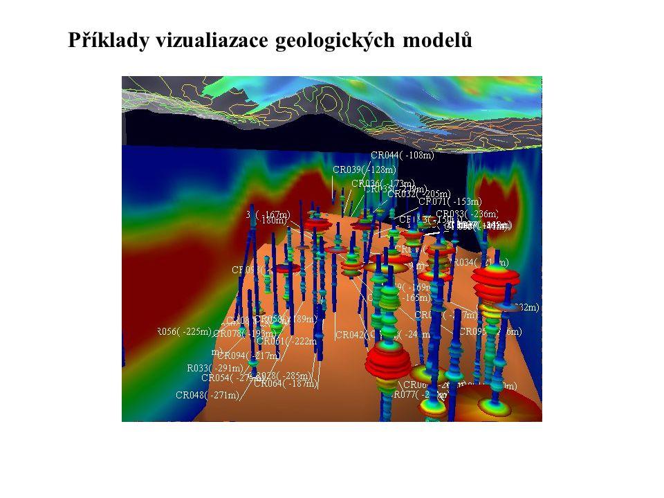 Příklady vizualiazace geologických modelů