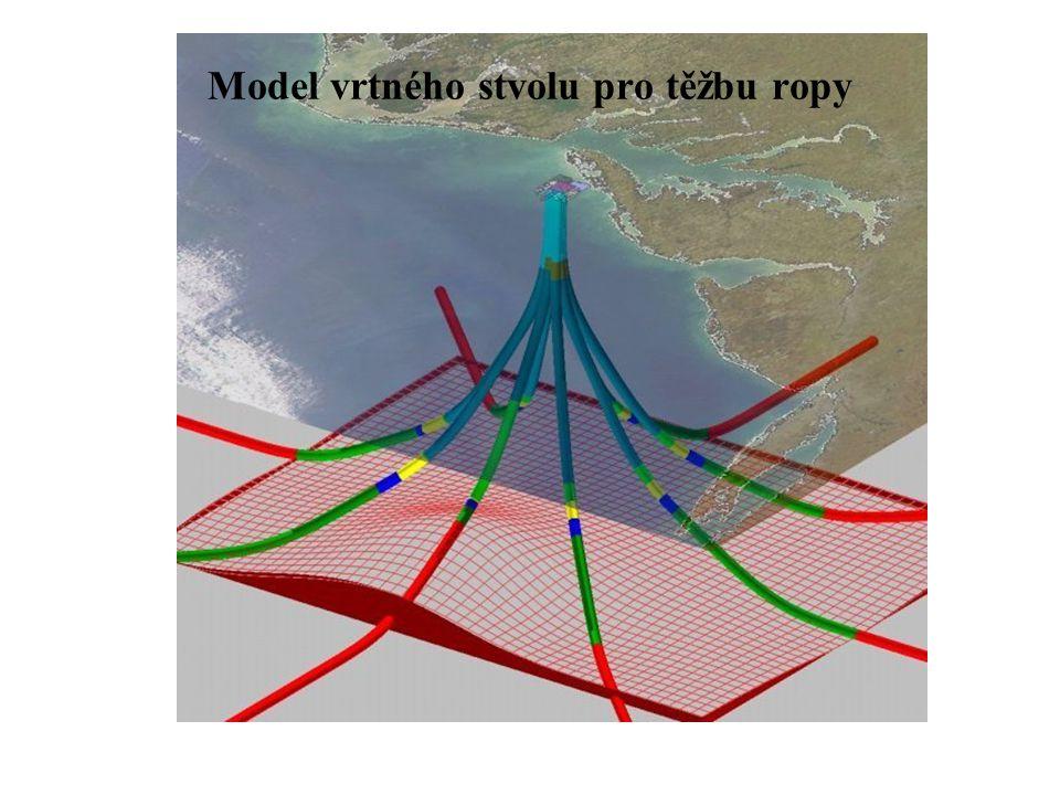 Model vrtného stvolu pro těžbu ropy