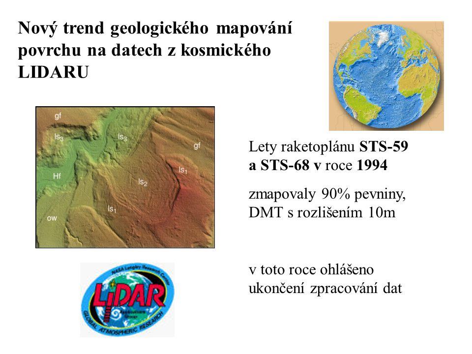 Nový trend geologického mapování povrchu na datech z kosmického LIDARU