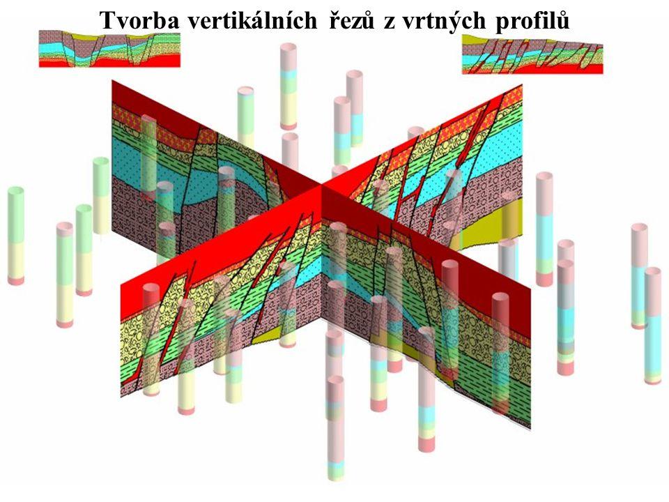 Tvorba vertikálních řezů z vrtných profilů