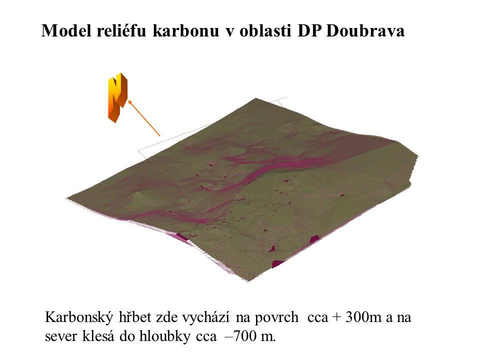N Model reliéfu karbonu v oblasti DP Doubrava