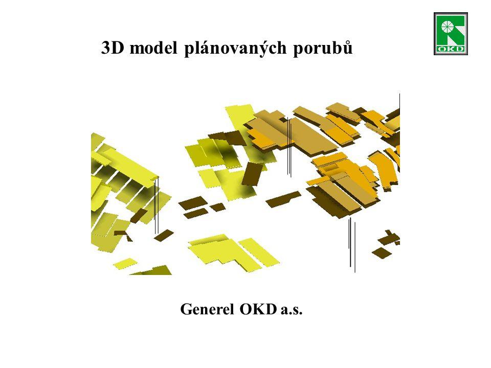 3D model plánovaných porubů