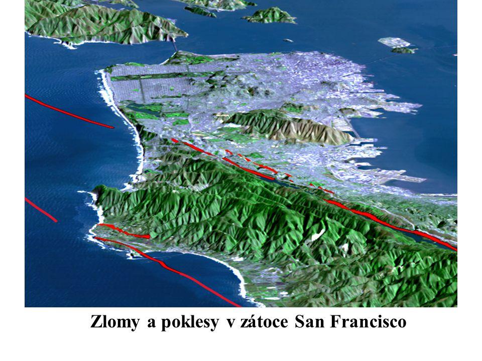 Zlomy a poklesy v zátoce San Francisco