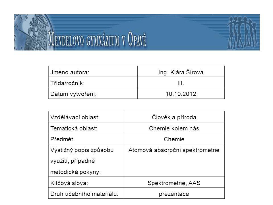 Atomová absorpční spektrometrie