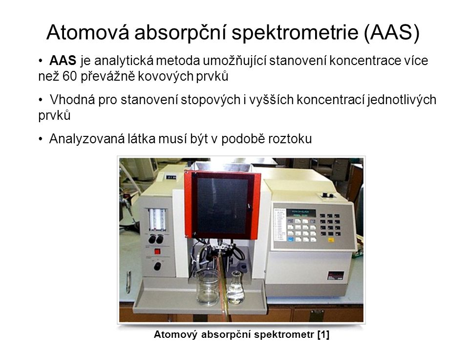 Atomová absorpční spektrometrie (AAS)