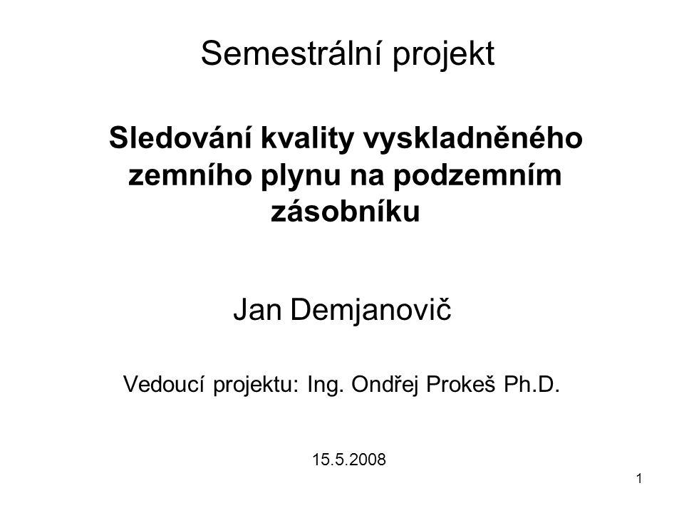 Jan Demjanovič Vedoucí projektu: Ing. Ondřej Prokeš Ph.D.