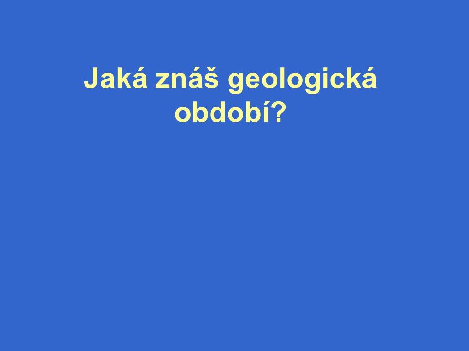 Jaká znáš geologická období