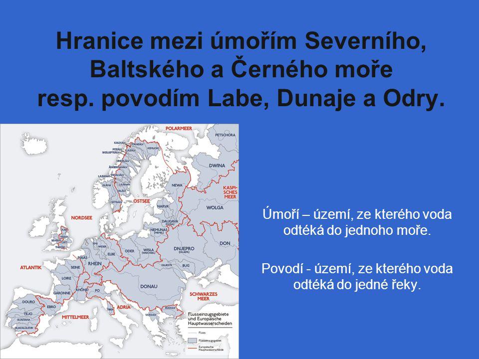 Hranice mezi úmořím Severního, Baltského a Černého moře resp