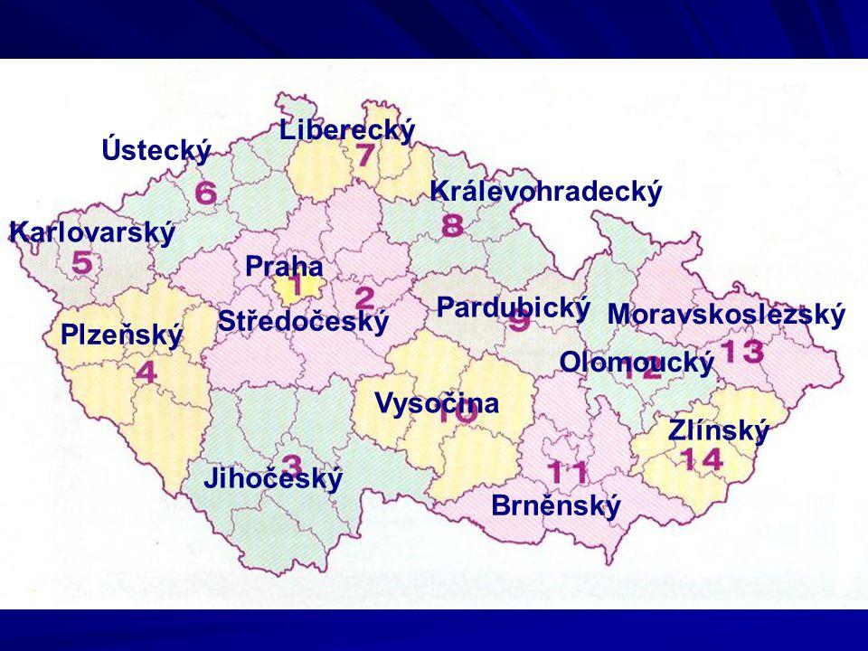 Liberecký Ústecký. Králevohradecký. Karlovarský. Praha. Pardubický. Moravskoslezský. Středočeský.