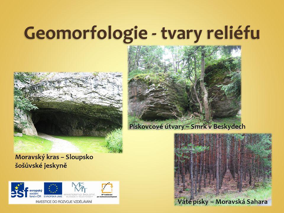 Geomorfologie - tvary reliéfu