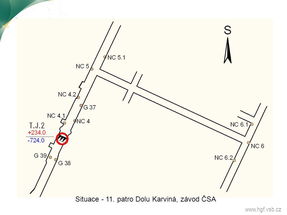 Situace - 11. patro Dolu Karviná, závod ČSA