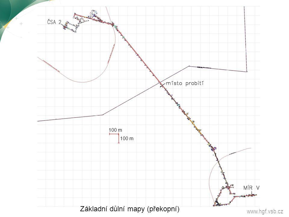 Základní důlní mapy (překopní)