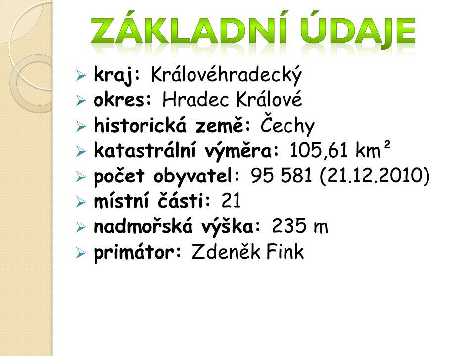 Základní údaje kraj: Královéhradecký okres: Hradec Králové