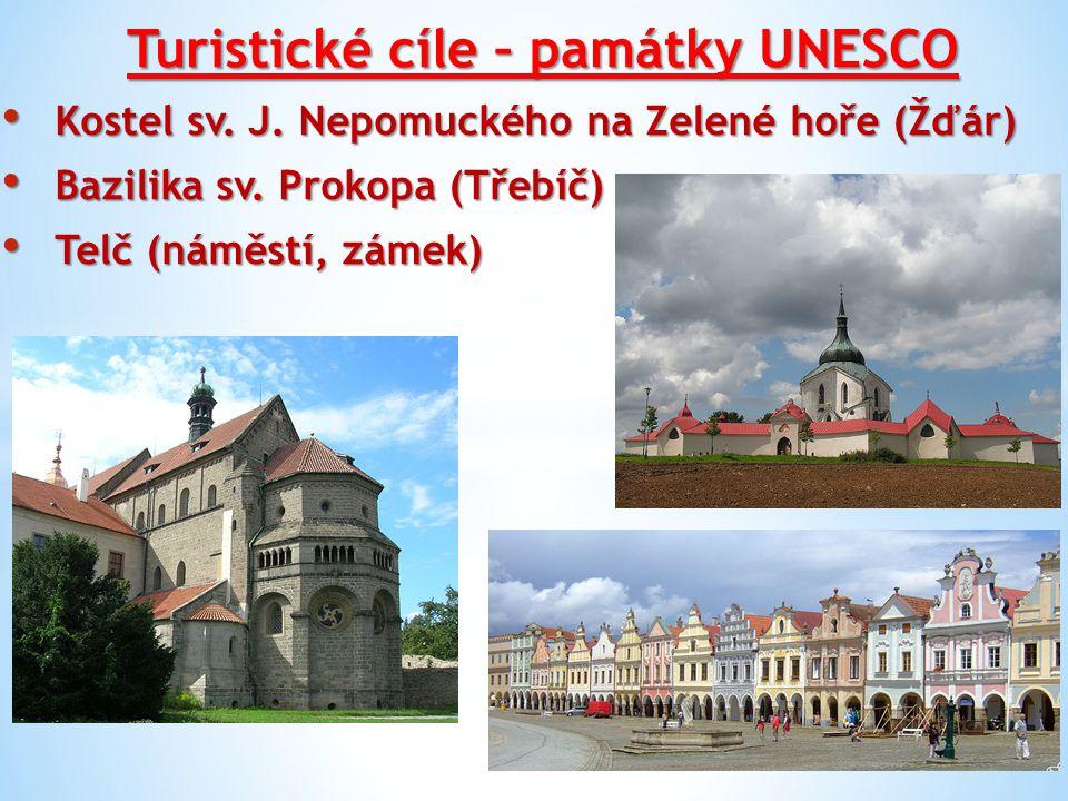 Turistické cíle – památky UNESCO