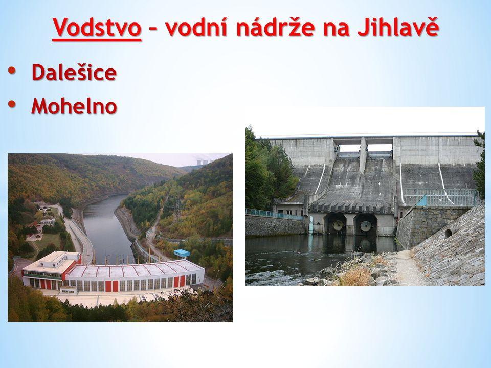 Vodstvo – vodní nádrže na Jihlavě