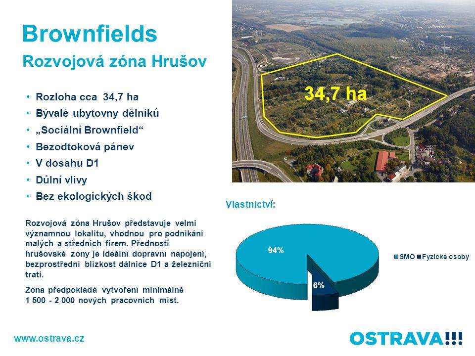 Brownfields Rozvojová zóna Hrušov Rozloha cca 34,7 ha