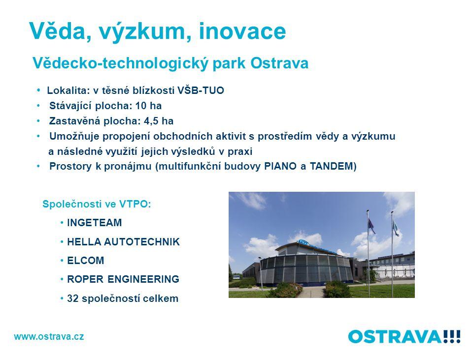Věda, výzkum, inovace Vědecko-technologický park Ostrava