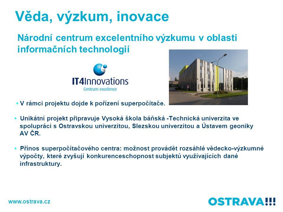 Věda, výzkum, inovace Národní centrum excelentního výzkumu v oblasti informačních technologií.