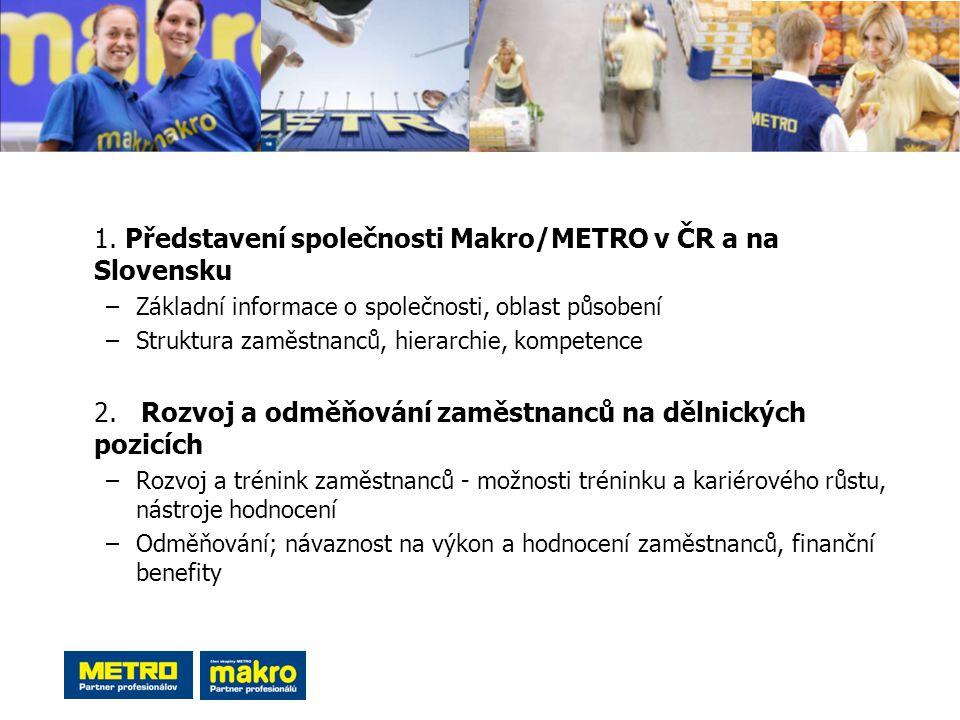1. Představení společnosti Makro/METRO v ČR a na Slovensku
