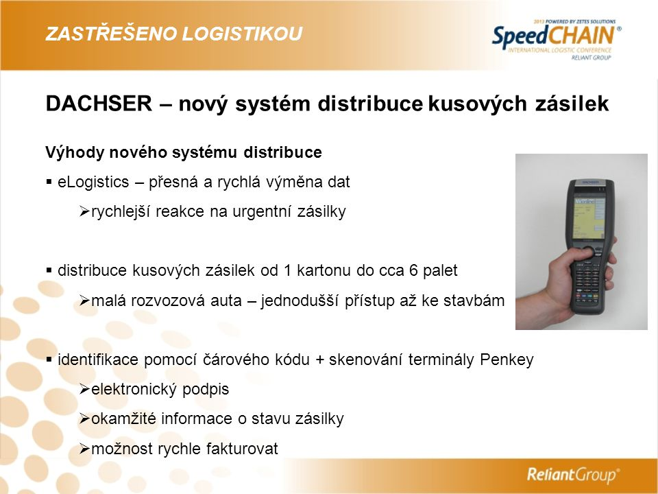 DACHSER – nový systém distribuce kusových zásilek