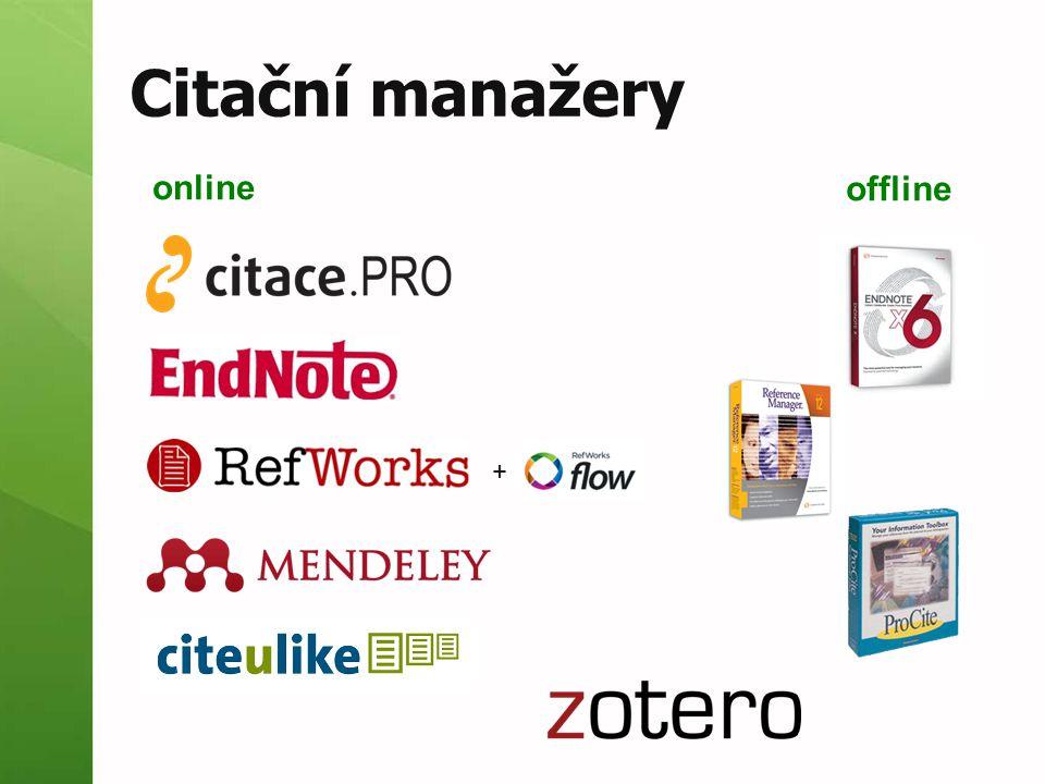 Citační manažery online offline +