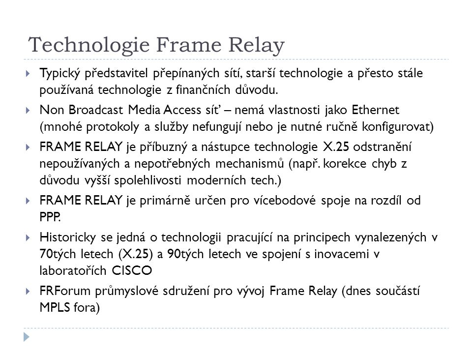 Technologie Frame Relay