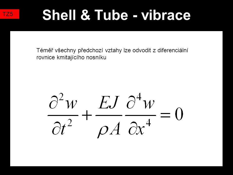 Shell & Tube - vibrace TZ5