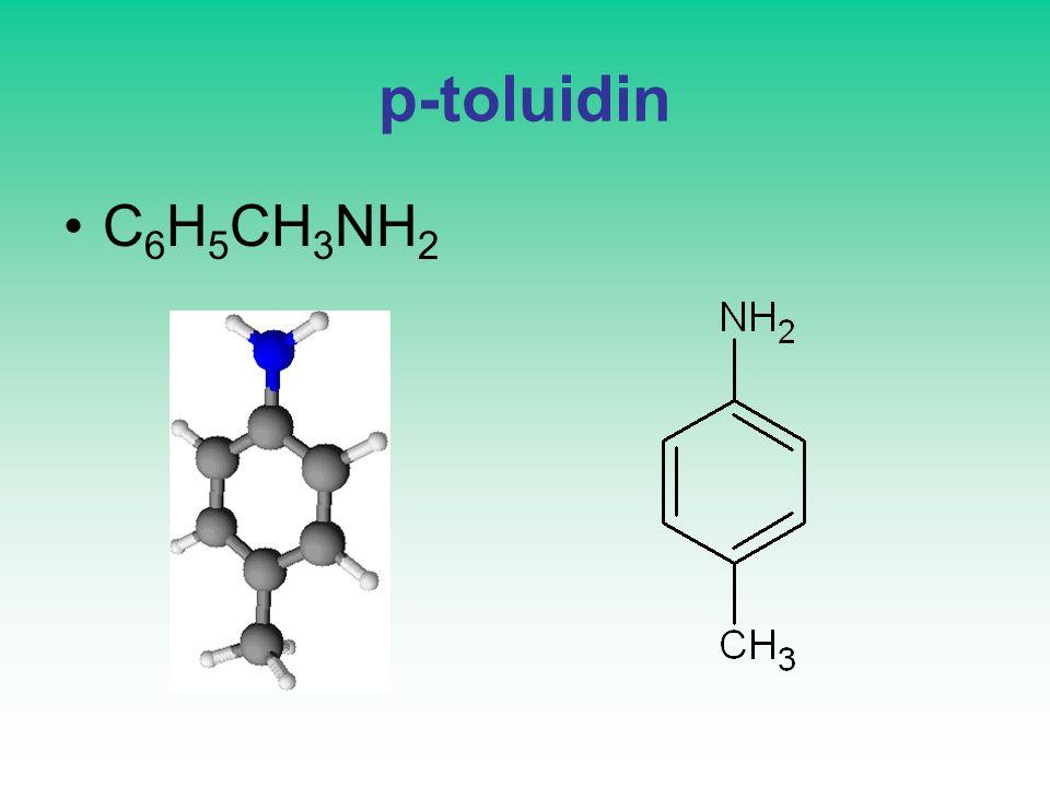 p-toluidin C6H5CH3NH2