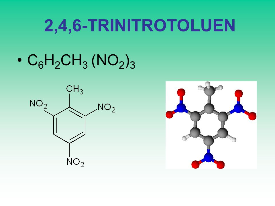 2,4,6-TRINITROTOLUEN C6H2CH3 (NO2)3