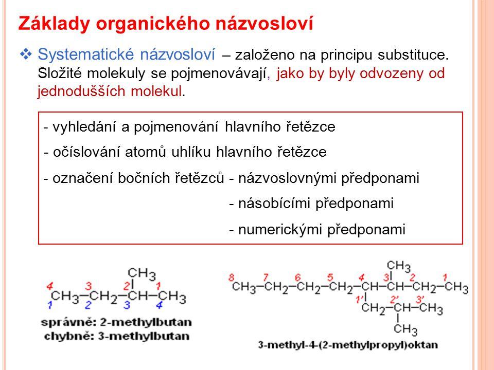 Základy organického názvosloví