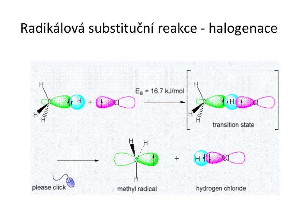 Radikálová substituční reakce - halogenace