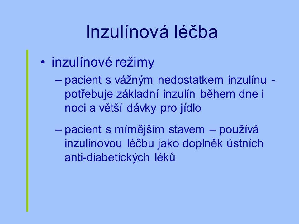 Inzulínová léčba inzulínové režimy