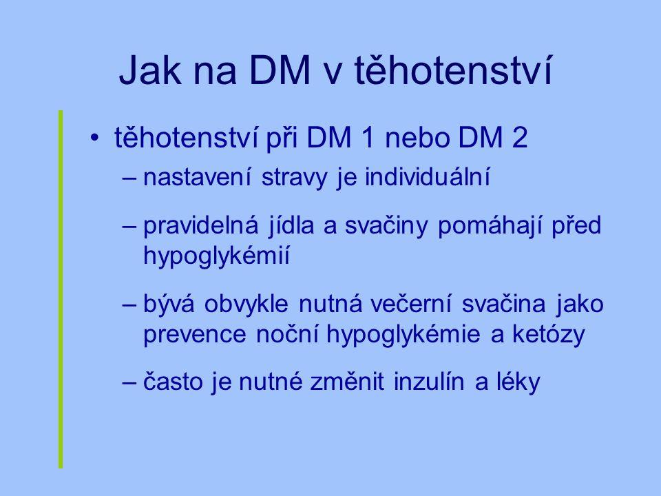 Jak na DM v těhotenství těhotenství při DM 1 nebo DM 2